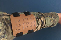 Tactical Armboard for Non-Dominant Forearm