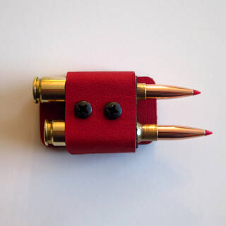 2 Round Quiver in EMS Red (bullets not included)