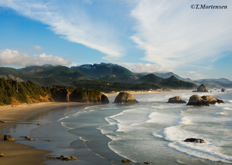 A timeless view of Cannon Beach as seen from Ecola State Park.