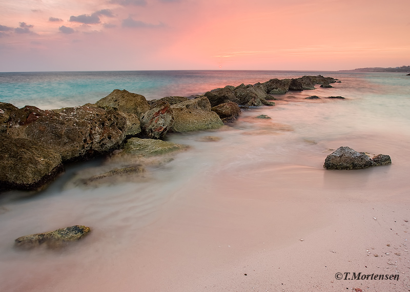 A local beach on Curacao, British West Indies that is a sister island to Aruba.