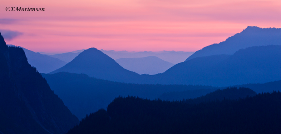 The smoke from the Oregon fires made their way north up the Cascades that helped illuminate the skies at twilight.