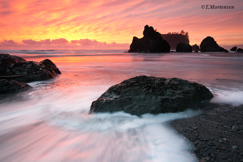 While leading a photo workshop in the Olympic National Park to Ruby Beach, we experienced the most vibrant sunset I have ever...