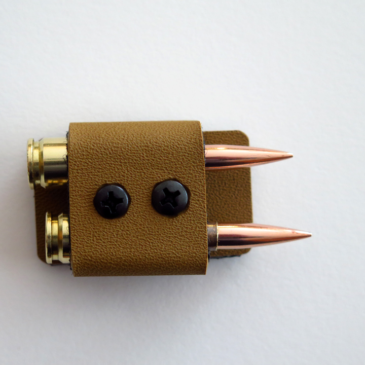 two bullet holder, 2 round quiver, ammo holder, bullet holder, cartridge holder, match saver, match saver, quiver, side saddle...